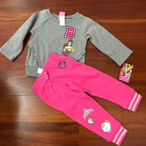 Disney Princess Belle Pink Warm Set